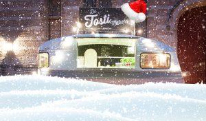 Food truck op kerstmarkt
